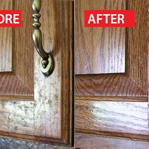 How To Clean Oak Wood Kitchen Cabinets How To Clean Grease From Kitchen Cabinet Doors White Vinegar Vinegar And Lemon