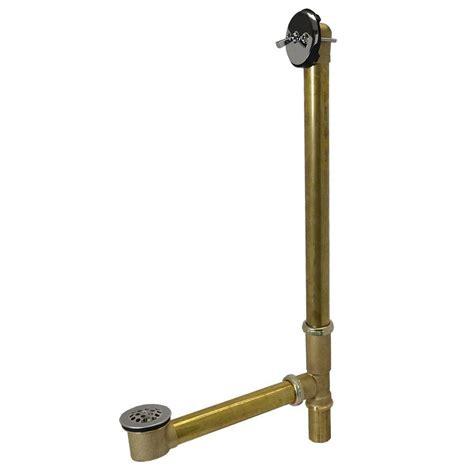 bronze bathtub drain kohler clearflo 1 5 in slotted overflow brass bath drain