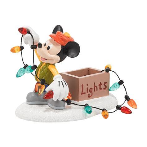 mickey lights up christmas department 56 4053053 mickeys christmas kiss