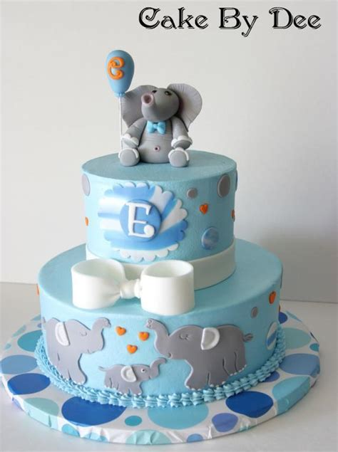 Elephant Baby Shower Cake by You To See Baby Elephant Baby Shower Cake By Cakesbydee