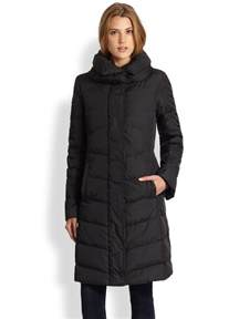 eileen fisher quilted coat in black lyst