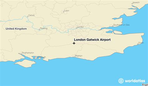 london gatwick airport location map london gatwick airport lgw worldatlas