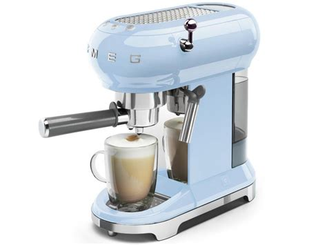 SMEG ECF01PBEU Espresso Coffee Machine Pastel Blue 1350W Retro Style Genuine NEW 8017709229979
