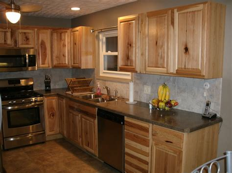 kitchen colors with hickory cabinets 20 rustic hickory kitchen cabinets design ideas
