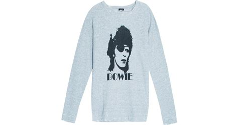 Sweater David Bowie 2 Zalfa Clothing r13 david bowie sweater in gray lyst