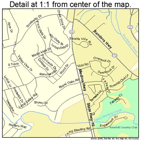 map of kerrville kerrville map 4839040