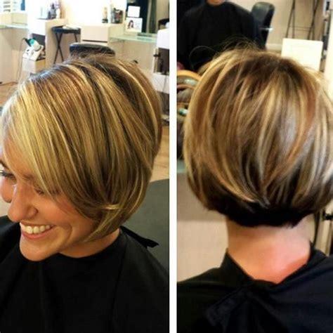 short brown hair with blonde highlights pinterest short bob dark brown hair with blonde highlights hair
