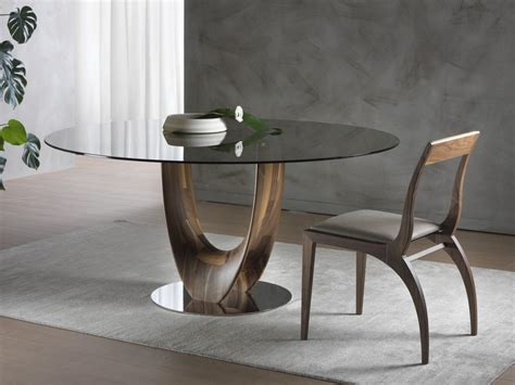 tavolo rotondo legno tavolo rotondo in legno e vetro axis tavolo rotondo