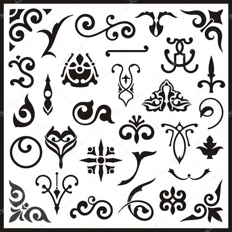 western design elements vector free ornamental design elements vector series stock vector