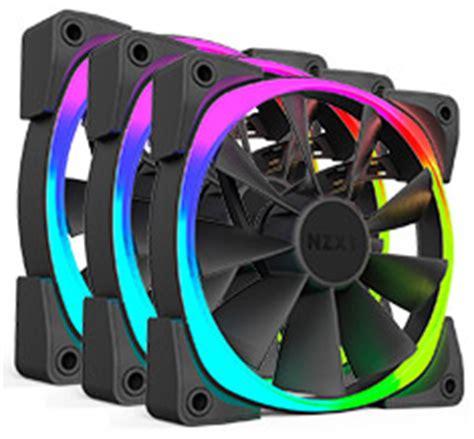 Nzxt Aer Rgb Fan 3 Pack 12cm nzxt aer rgb 120mm fan pack rf ar120 t1 pc gear