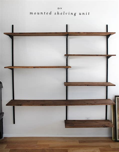 diy mounted shelving almost makes