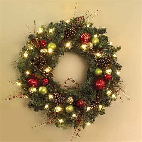 Wonderful Cordless Christmas Wreaths With Lights #3: 81474_1000x1000.jpg