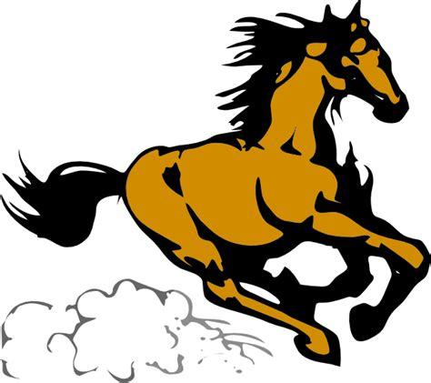 clipart cavalli running 4 clip at clker vector clip
