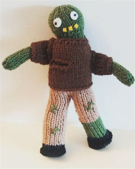 cute zombie pattern cute knitted zombie doll pattern perfect for halloween or