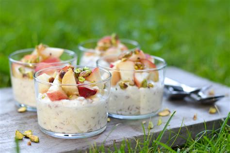 cottage cheese and spelt dessert topped with