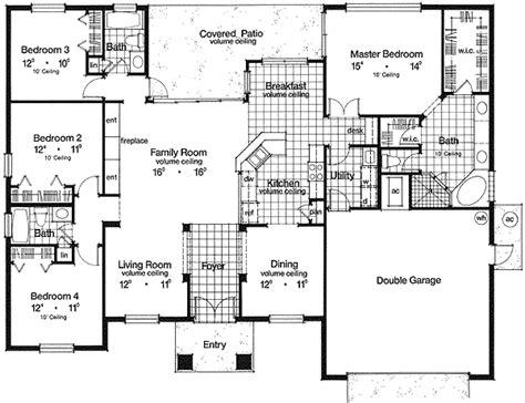 foyer plan raised foyer and living room 63086hd 1st floor master