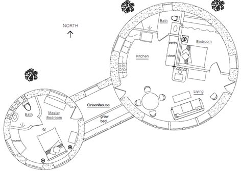 floor plans for round homes roundhouse plan earthbag house plans