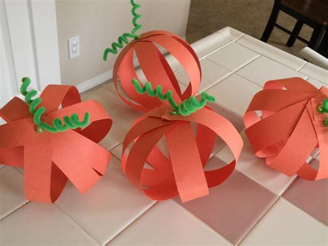 Pumpkin Construction Paper Crafts - swellchel swellchel does pumpkin crafts for