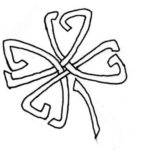 four leaf clover tribal tattoos four leaf clover celtic by airnymphss on deviantart
