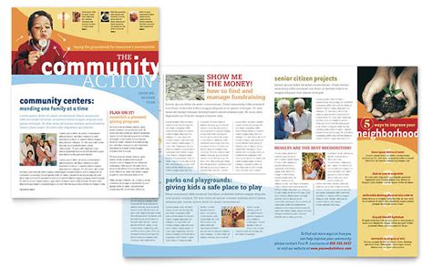 community non profit newsletter design template by