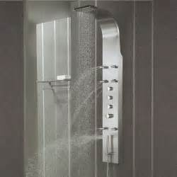 stainless steel shower panel tower system spray