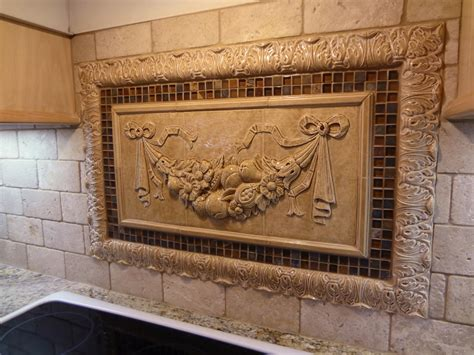 kitchen medallion backsplash decorative ceramic tile inserts roselawnlutheran