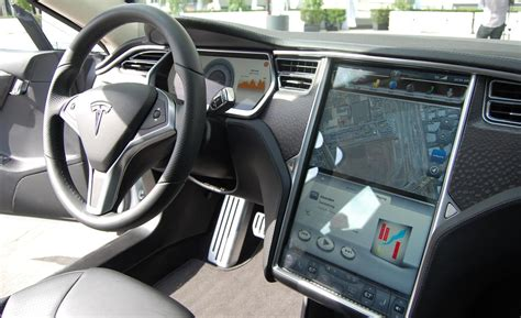 Tesla S Model Interior by 2014 Tesla Model S Interior
