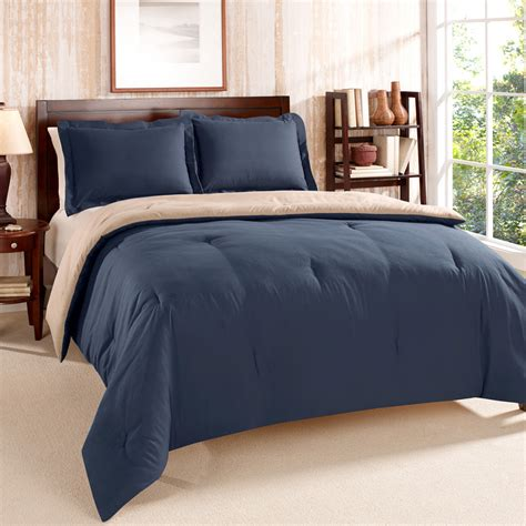 tommy hilfiger solid navy comforter set from beddingstyle com