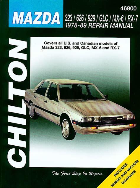 chilton car manuals free download 1994 mazda 323 navigation system mazda 323 626 929 glc mx 6 rx 7 78 89 chilton usa