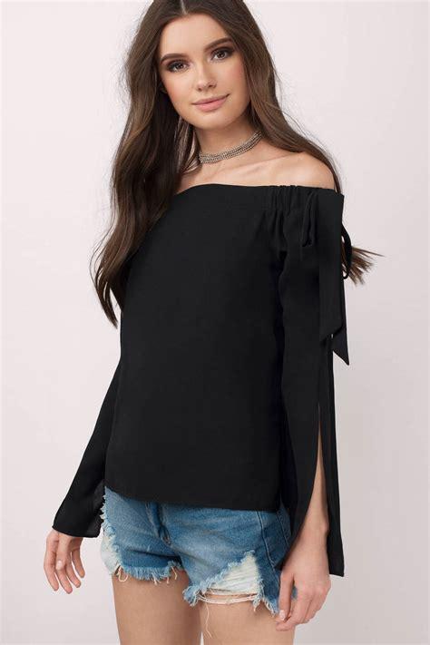 Blouse Tifany black blouse 32 00 tobi