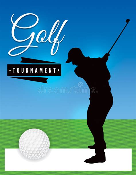 Golf Tournament Flyer Template Illustration Stock Illustration Illustration Of Competition Tournament Flyer Template Word