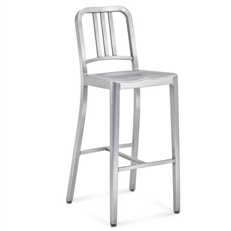 Navy Aluminum Bar Stools navy bar stool emeco shop