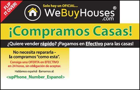 real estate flyer printing bilingual marketing english spanish we buy houses