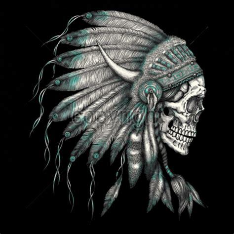 t shirt custom design native american indian chief skull