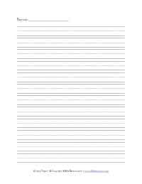 printable lined paper with name primary handwriting paper all kids network