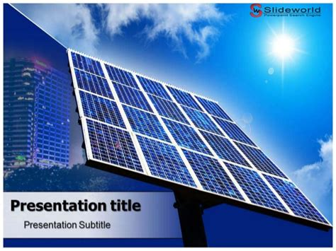 solar panels powerpoint template slideworld com