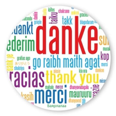 Dm Sticker Drucken Rund by Geschenk Aufkleber Quot Danke Quot In Verschiedenen Sprachen