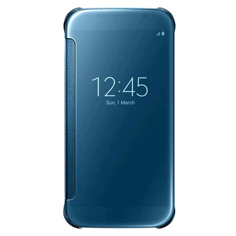 Samsung Galaxy S6 Clear View Standing Soft Cover Flip Casing samsung clear view cover for samsung galaxy s6 blue expansys australia