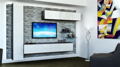 Melamine Kitchen Cabinet furniture for living room with rock paneling white