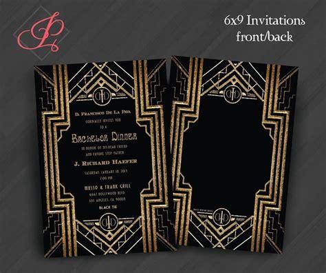 anniversary engagement invitations gatsby roaring 20s