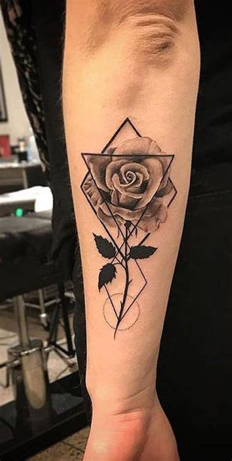 geometric rose tattoo 50 beautiful ideas tattoos