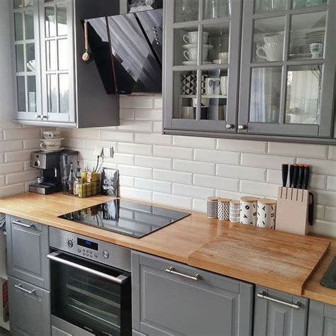 Kitchen Subway Tile Backsplash 30 grey kitchens that you ll never want to leave digsdigs