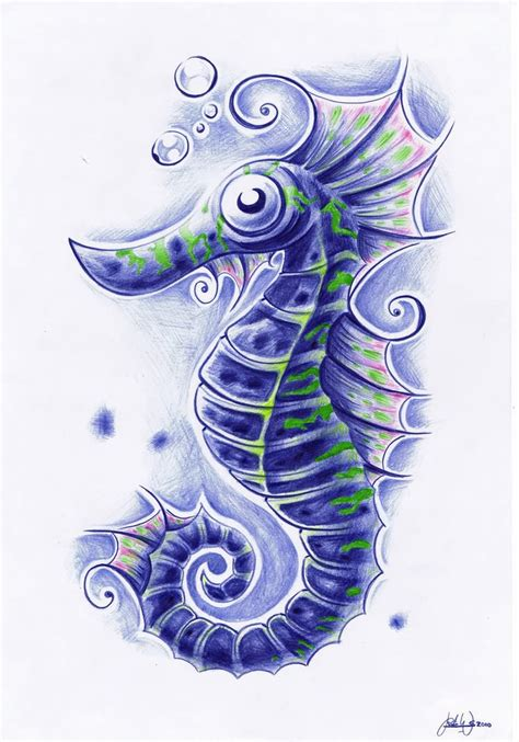 sea tattoo designs seahorse images designs
