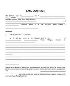 land sale agreement template land contract templates sle land contract form sle