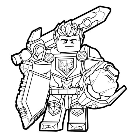 Lego Nexu Thunder Lego Nexo Knights 2017 Coloring Pages Getcoloringpages