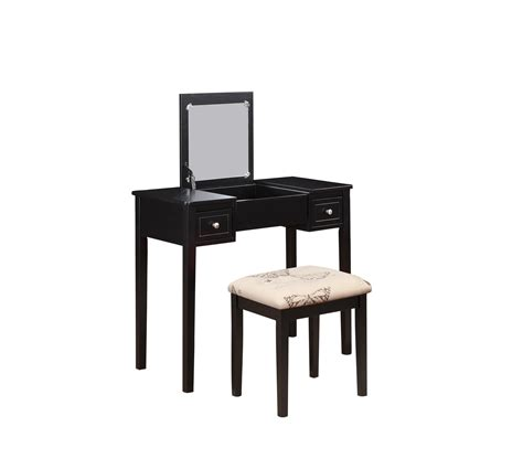linon home decor vanity set with butterfly