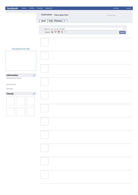 facebook template download free premium templates