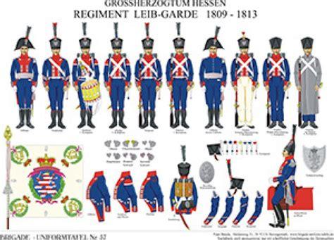 tafel darmstadt tafel 57 gro 223 herzogtum hessen darmstadt regiment leib