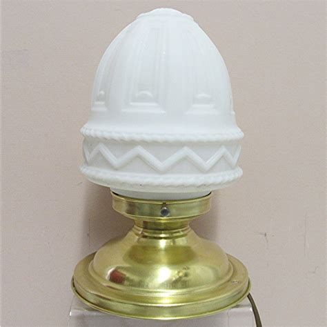 antique ceiling l with milk glass shade from drury on
