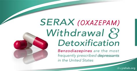 Oxazepam In Detox Withdrawal serax oxazepam withdrawal and detoxification